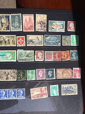 Old collection of stamps from France bargain price for valued stamps