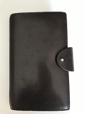 Filofax Personal Compact Charleston in Brown Leather 6 Ring Organizer- New