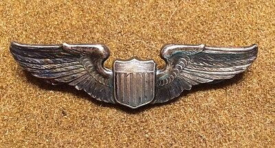 WWII Sterling Silver Pilot Wings Amazing Feathering ?Theatre Made-Firmin Pattern