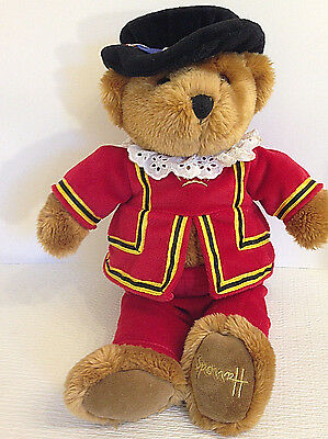 Harrods Beefeater Bear- Royal Guard Knights Bridge London -Teddy Plush 13""