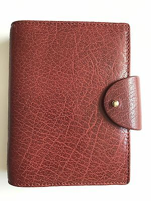 Filofax Personal Pocket Charleston in RED Leather 6 Ring Organizer- New