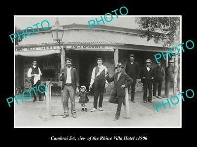 OLD LARGE HISTORIC PHOTO OF CAMBRAI SA, VIEW OF THE RHINE VILLA HOTEL c1900
