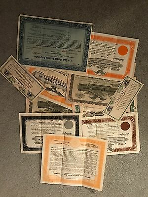Lot of Old Stock Certificates