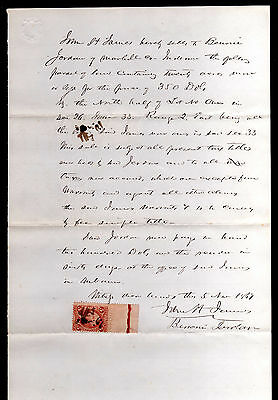 1867 Sales Agreement - Marshall County, Indiana - C/w Revenue Stamp