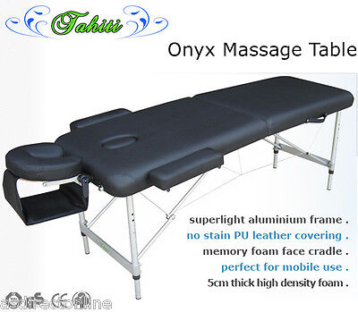 CHEAP Tahiti Onyx Grande Massage Table - Black RRP: $179 Now Only: $80