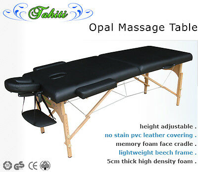 """CHEAP"" Tahiti Opal Wooden Massage / Tattoo Table - BLACK RRP: $159 NOW ONLY $90"