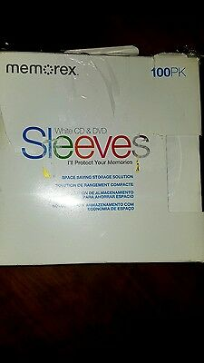 memorex cd dvd sleeves 100 pack