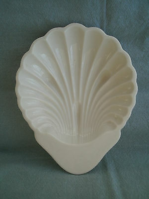 Vintage Lenox White Ivory Clam Shell Candy Dish green mark dip trinket jewelry