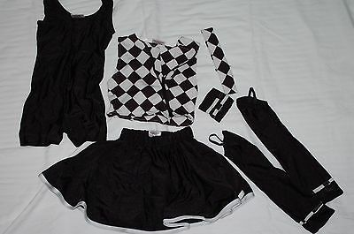 Black And White Race-Car Driver Kids Dance Costume