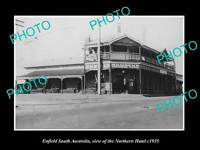 OLD LARGE HISTORIC PHOTO OF ENFIELD SOUTH AUSTRALIA, THE NORTHERN HOTEL c1935