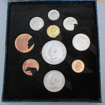 1951 Festival of Britain Boxed Official ex Proof Farthing to Crown 10 Coin Set