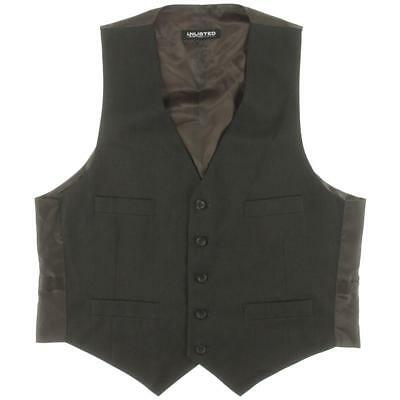 Unlisted Kenneth Cole 9228 Mens Brown Pinstripe Lined Suit Vest 44R BHFO