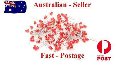 3mm Red - Leds Packs of  25, 50 or 100pcs  Fast Delivery