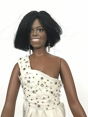 "MICHELLE OBAMA FIRST LADY INAUGURAL BALL DOLL 16"" No BOX THE DANBURY MINT No TAG"