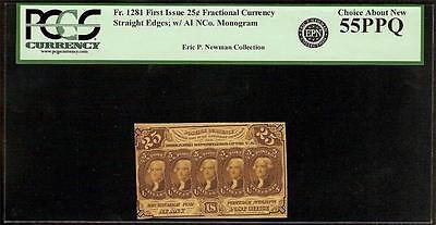 25 CENT FRACTIONAL POSTAGE NOTE 1862-1863 CURRENCY PAPER MONEY Fr 1281 PCGS 55