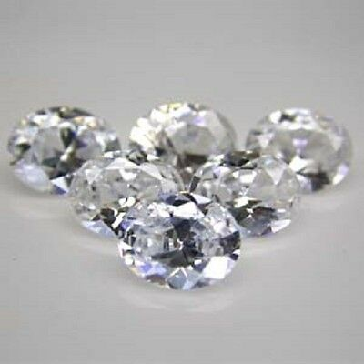 Diamant Synthetique Cubic Zirconia 3X5 Mm 0,35 Ct Qualite A Taille Ovale++