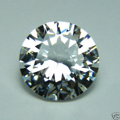 Diamant Synthetique Cubic Zirconia 6,00 Mm 1,43 Ct Qualite A Taille Brillant++
