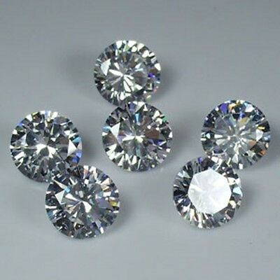 100 Diamants Synthetiques Cubic Zirconia 2,00 Mm 0,06 Ct Qualite A Brillant++
