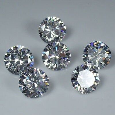 3 Diamants Synthetiques Cubic Zirconia 2,50 Mm 0,10 Ct Qualite A Brillant++