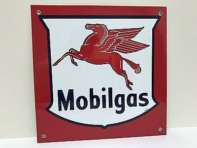 Mobilgas Mobil has pegasus oil gasoline vintage advertising sign
