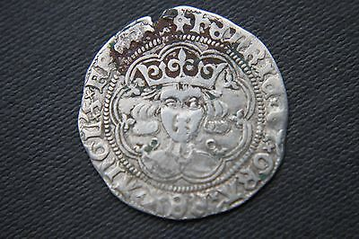 ENGLISH HENRY V1 SILVER COIN  GROAT 4d  CALAIS MINT