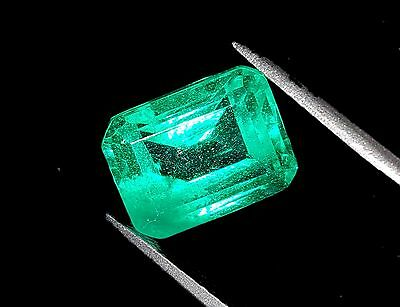 Excellent Emerald Shape 10.83 Ct Certified Natural Colombian Emerald Gems eBay
