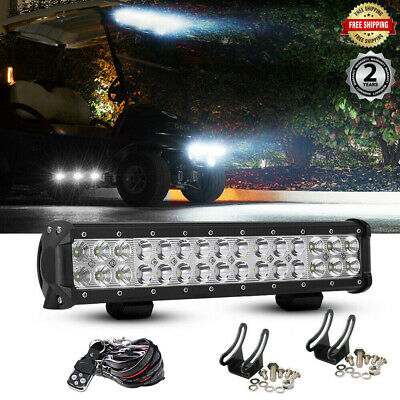 "14"" Led Light Bar + 2x Fog Work Driving Lamps For Honda Pioneer 1000 700 UTV ATV"