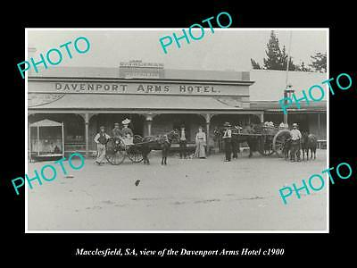 OLD LARGE HISTORIC PHOTO OF MACCLESFIELD SA, THE DAVENPORT ARMS HOTEL c1900