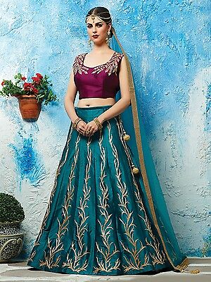Indian Bollywood Ethnic Designer Wedding Un Stitched Bridal Lehenga Choli Set_N1