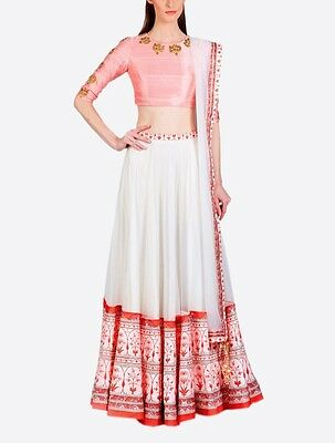 Indian Ethnic Bollywood Designer Wedding Un Stitched Bridal Lehenga Choli Set_N2