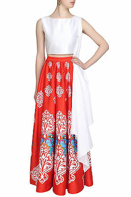 Indian Designer Ethnic Bollywood Wedding Un Stitched Bridal Lehenga Choli Set_N3
