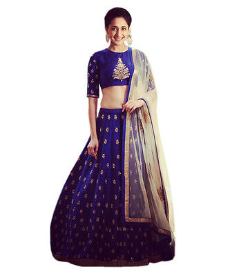 Wedding Designer Bridal Indian Ethnic Bollywood Un Stitched Lehenga Choli Set_N6