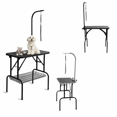 3 Type Foldable Pet Dog Cats Grooming Table Non Slip Surface W/ Adjustable Arm