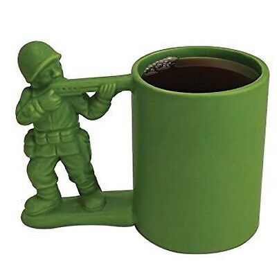 Brand New With Box Green Novelty Army Soldier Coffee Tea Mug Cup