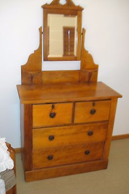 Antique Dressing Table  Solid Pine Professionally Restored