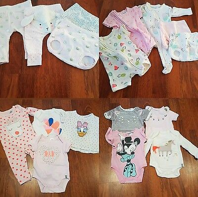 Mixed x17 Baby Girl Rompers Leggings Nappy Covers 0000 0-3 Cotton On