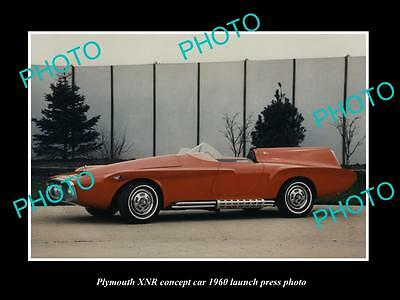 Old Large Historic Photo Of Plymouth Xnr Concept Car 1960 Launch Press Photo