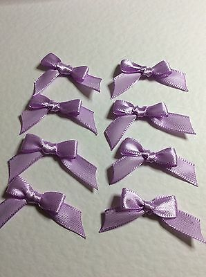 20 Lilac Pink 10mm Ribbon bows 🎀 for card making/scrap booking help charity