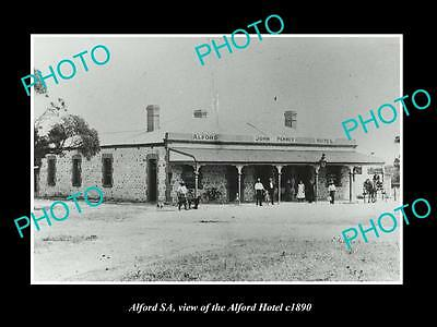 OLD LARGE HISTORIC PHOTO OF ALFORD SOUTH AUSTRALIA, THE ALFORD HOTEL c1890