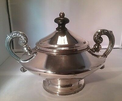 Antique small silver plated lidded bowl tureen R. Broadhead & Co, Sheffield