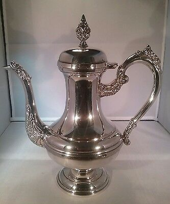 Silver plated hot water jug/ coffee pot