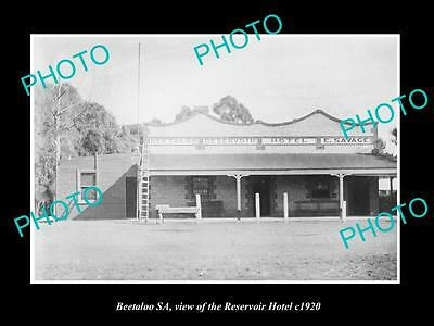 OLD LARGE HISTORIC PHOTO OF BEETALOO SA, VIEW OF THE RESERVIOR HOTEL c1920