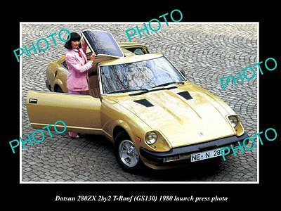 Old Large Historic Photo Of 1980 Datsun 280Zx T-Roof Launch Press Photo