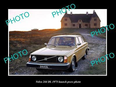 Old Large Historic Photo Of 1975 Volvo 244 Dl Series Launch Press Photo 2