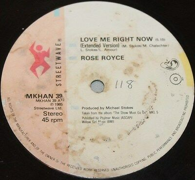 "ROSE ROYCE * LOVE ME RIGHT NOW * Classic Soul Funk Boogie 12"" Vinyl"
