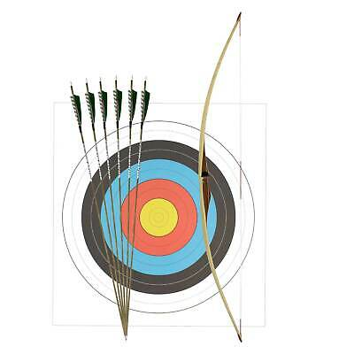 "SET Big Tradition Langbogen Okapi 62"" (ca. 157 cm) + 6 Carbonpfeile Holzoptik"