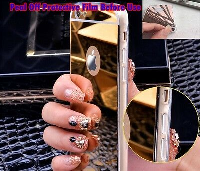 Luxury Ultra-thin TPU Gold Mirror Metal Case Cover for iPhone 7 {Bx186