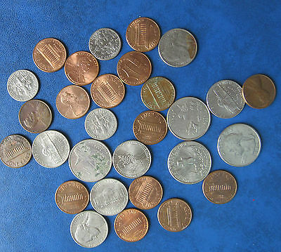 Selection Of Us Currency  Coins