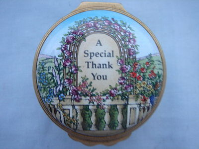 Halcyon Days Enamels - 'a Special Thank You'