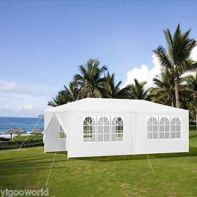 3M x 6M White Waterproof Outdoor PE Garden Gazebo Marquee Canopy Party Tent NEW